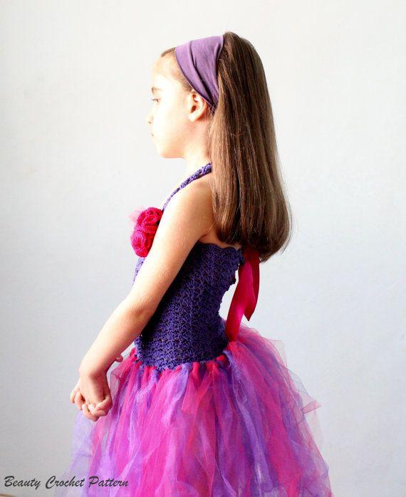 Crochet Pattern Tutu Dress Baby- Child Size, Crochet Tutu No Sew Dress Pattern