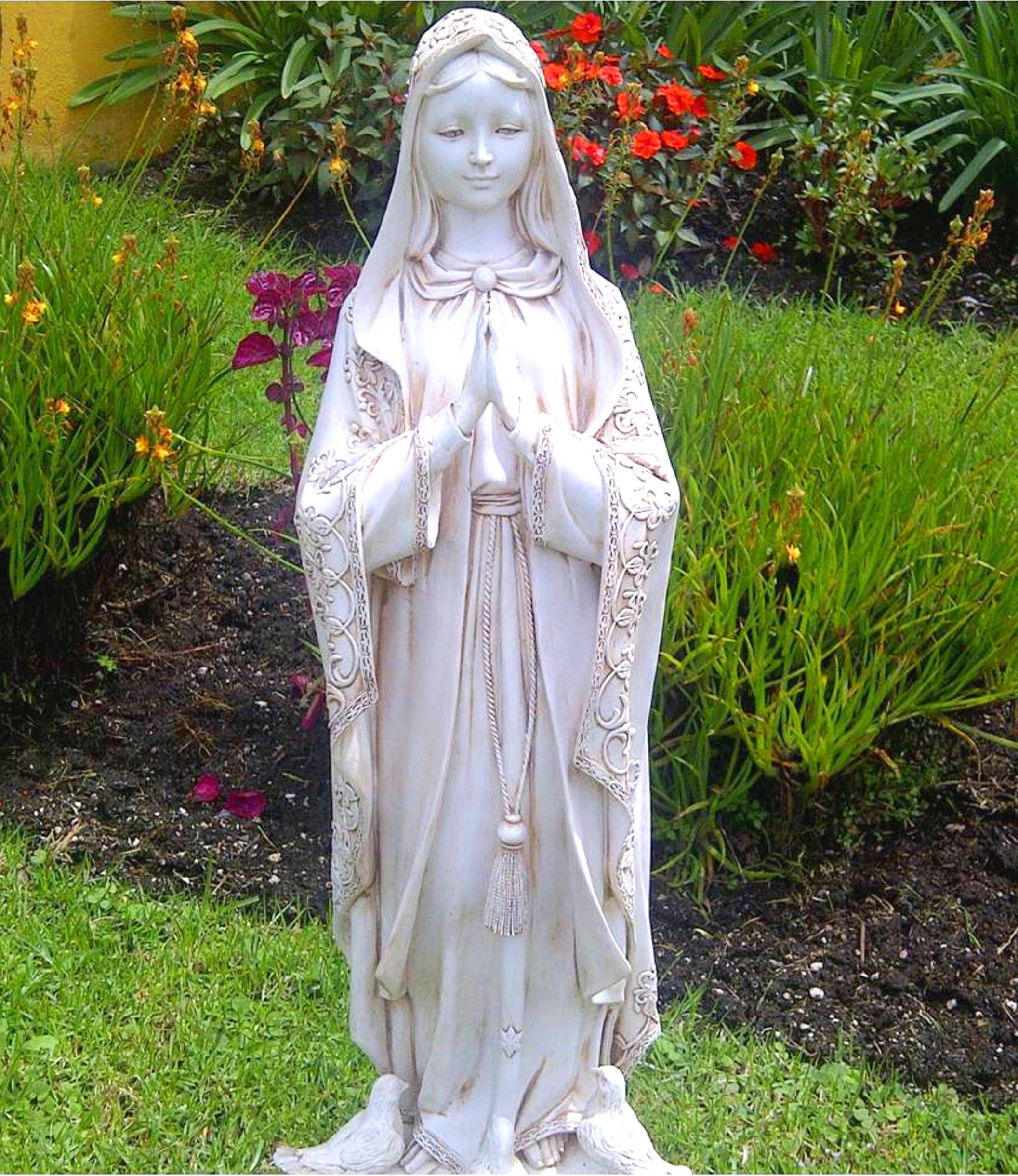 Bella imagen de la virgen de f tima figura de polvo de - Estatuas de jardin ...
