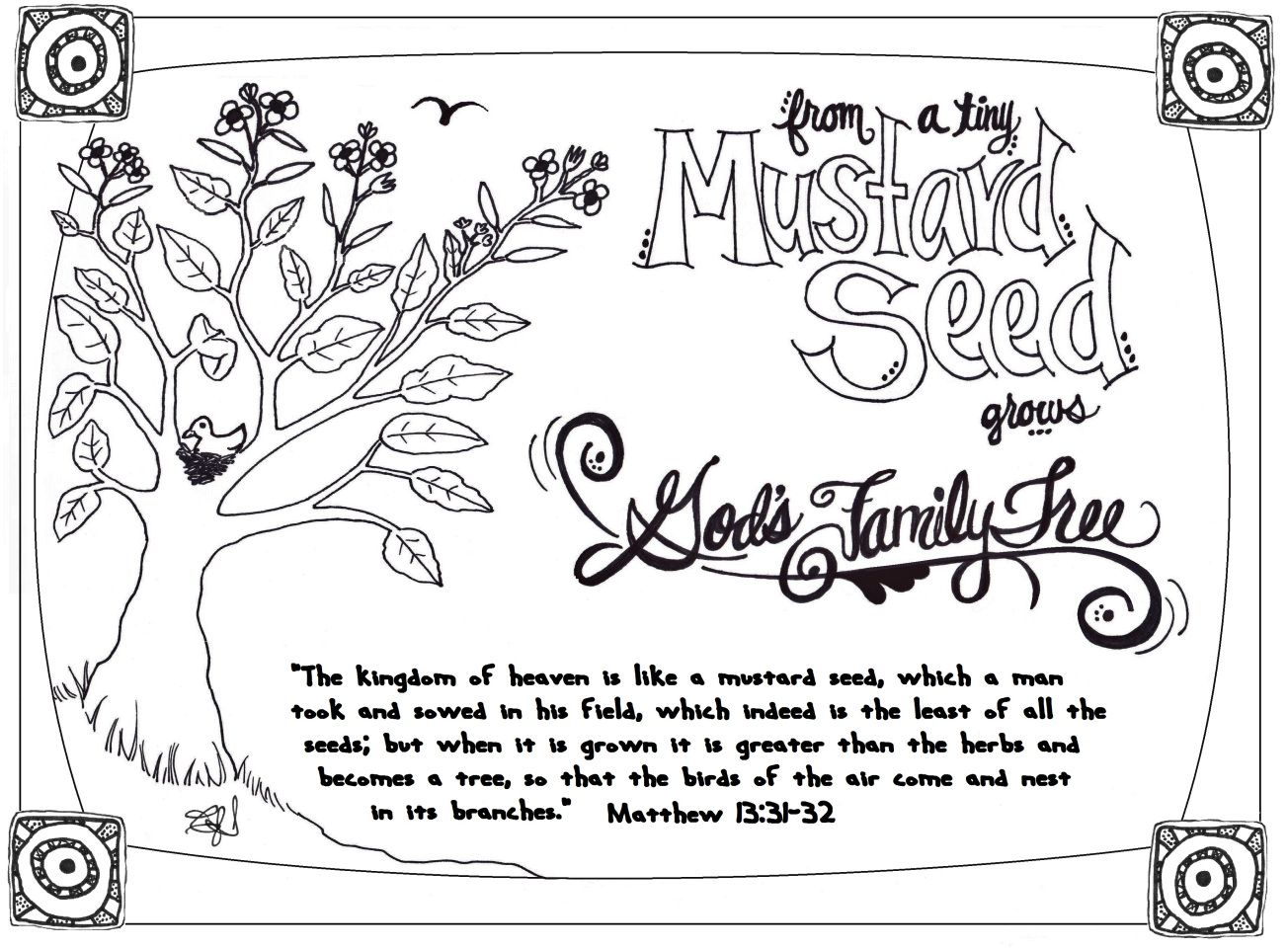 The Parables Mrshlovesjesus Mustard Seed Parable Bible Coloring Pages Mustard Seed Faith Craft