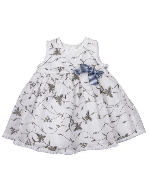 Vestido De Bebé Niña De Pan Con Chocolate En Color Blanco Con Motivos Florales Vestidos Para Bebés Vestido De Verano Vestidos