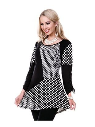 Lily Women's Circle Tunic (Black/White)