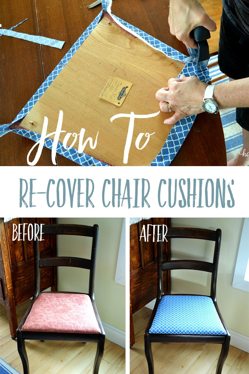 How Much Fabric To Cover A Chair Cushion Plastic Wood Adirondack Plans Easily Re Diy Cushions Recover Follow These Quick And Easy Steps Totally Transform The Look Of Chairs It S Easier Than Trying Clean