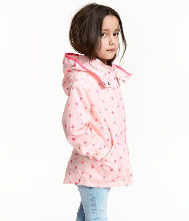 ed6b84d2a6 Chaqueta cortavientos | Rosa claro/Corazones | Niños | H&M MX ...