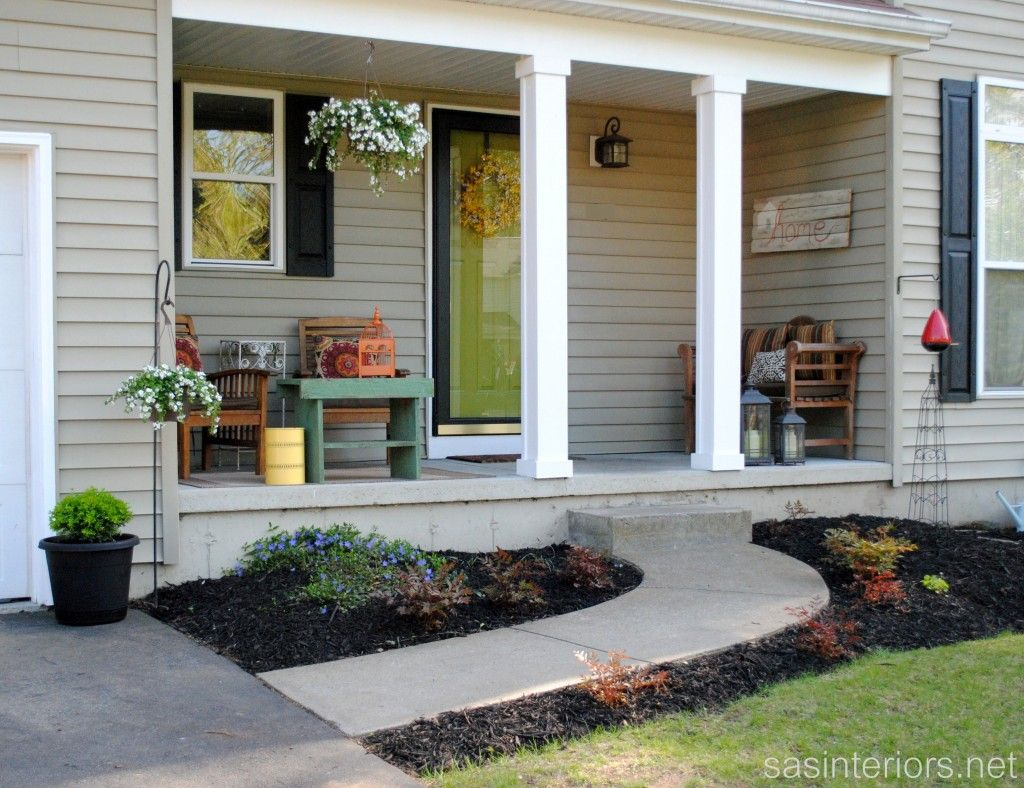 Sas interiors beautiful front yard inspiration for Front porch renovation ideas