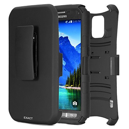 Samsung Galaxy S5 Active Case [SideARM Series] - Rugged Holster Case with Kickstand for Samsung Galaxy S5 Active (SM-G870A) Black/Black Exact http://www.amazon.com/dp/B00KXFOO04/ref=cm_sw_r_pi_dp_sy70ub1H6DAZH