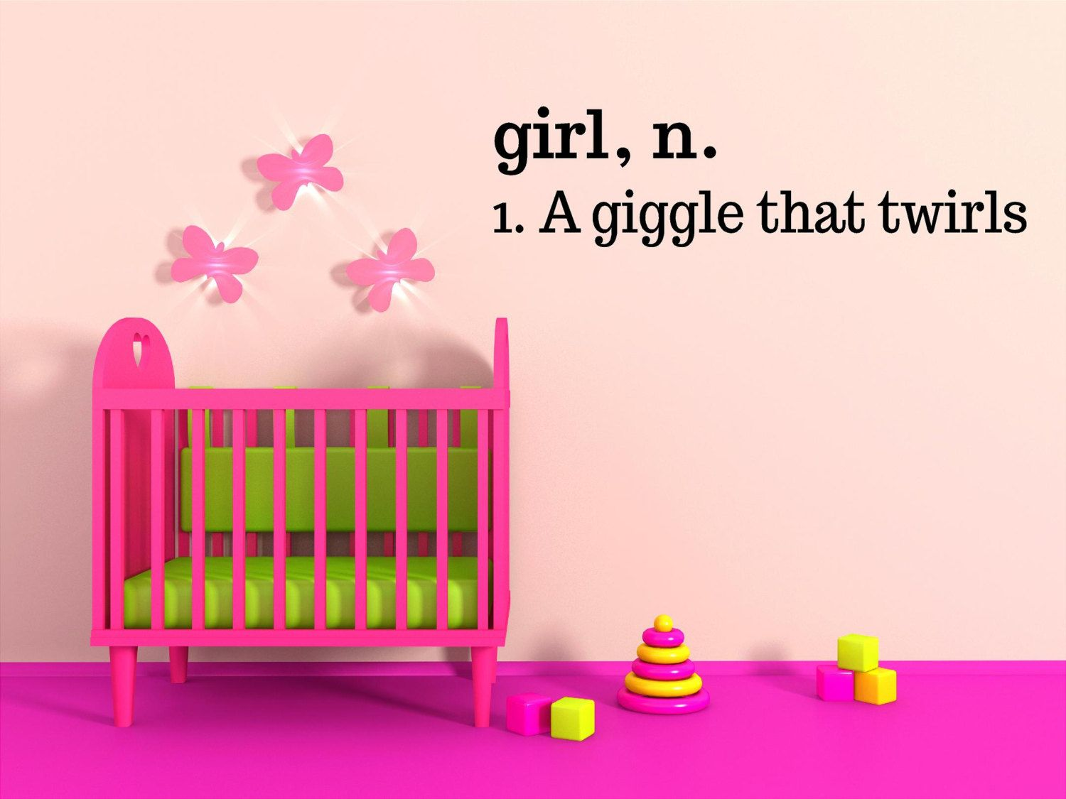 Girl definition a giggle that twirls vinyl wall decal girl bedroom