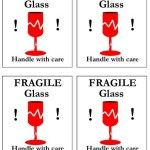photograph about Fragile Glass Labels Printable known as Delicate Manage With Treatment Transport Label - Various For each Webpage