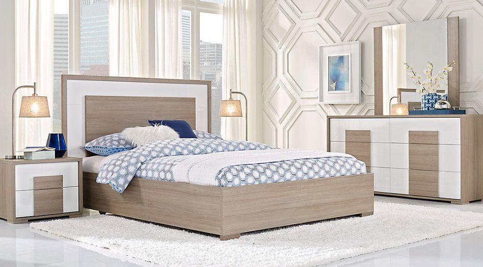 Studio Place Taupe 5 Pc Queen Panel Bedroom Bedroom Sets Queen