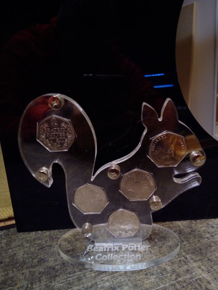 50 pence coin display album royal mint Beatrix potter hedgehog duck rabbit 2016