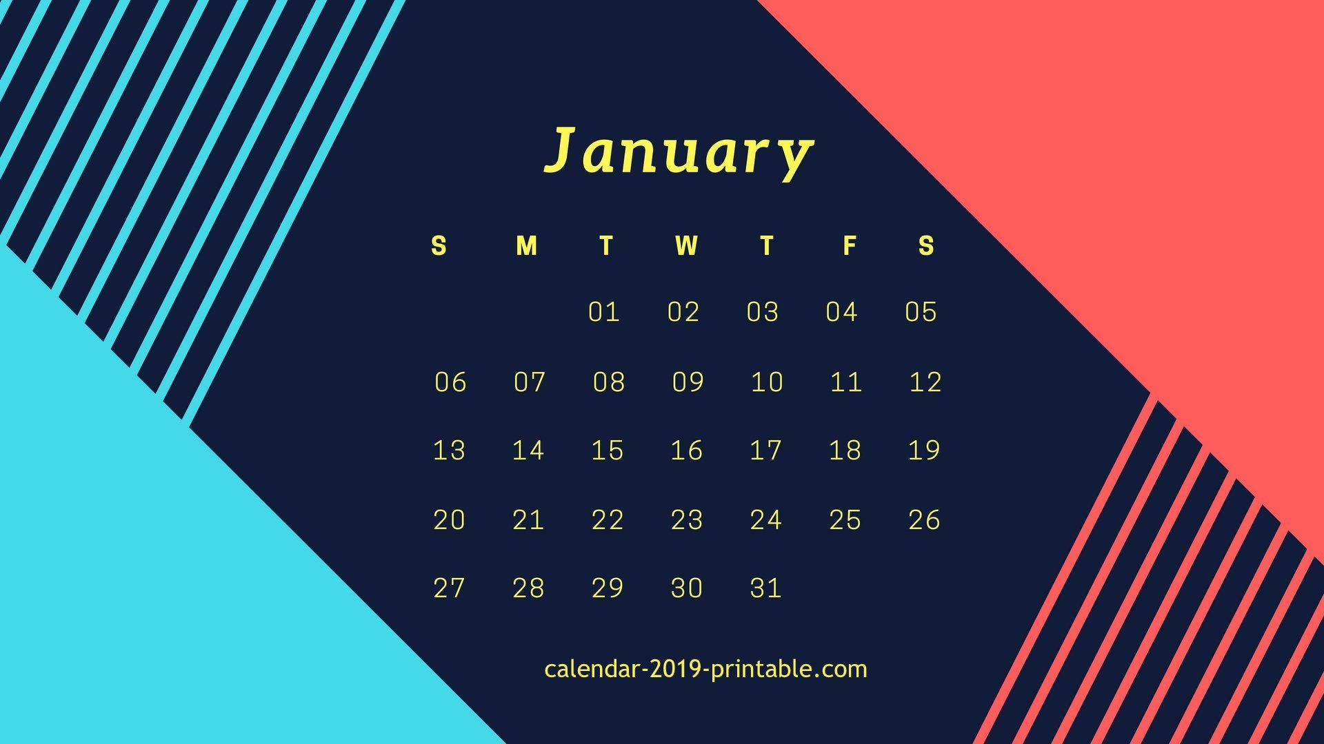 Beautiful January 2019 Desktop Wallpaper Calendar Desktop Wallpaper Calendar Desktop Wallpaper Computer Wallpaper Desktop Wallpapers
