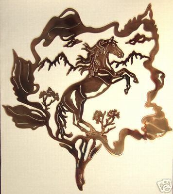 Horse Abstract Metal Sculptures | WESTERN METAL ART HORSE MUSTANG ...