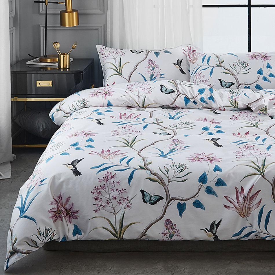Bed Linen China High Quality Bed Set 100 Egyptian Cotton Bedding Modern Bedsheet Set Flower Duvet Cover Set Bed Linens Luxury Quality Bedding Bed Linen Design