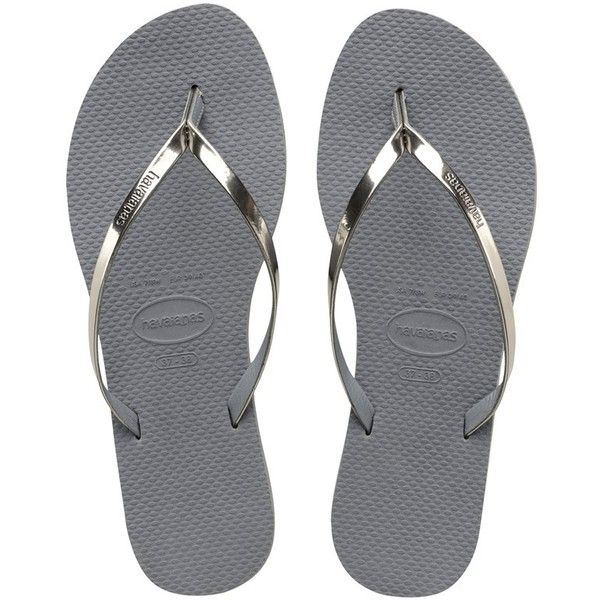 7552f3be1 Havaianas You Metallic Sandal (€35) ❤ liked on Polyvore featuring shoes