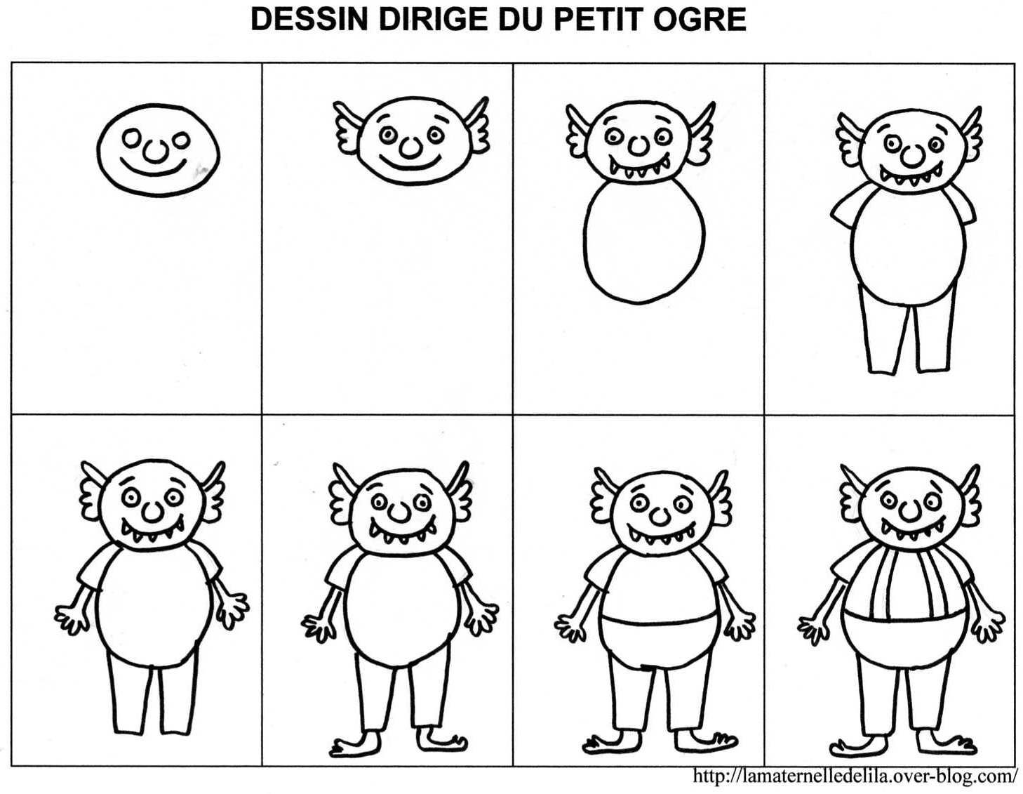 Dessin Dirigé Du Petit Ogre Petit Ogre Ogre Et Ogre