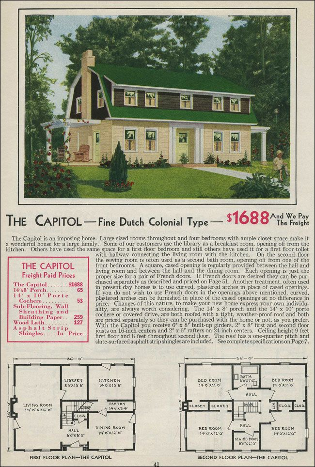 Dutch Colonial Revival 1931 Aladdin Homes Gambrel Roof Gambrel Style Dutch Colonial Homes Dutch Colonial
