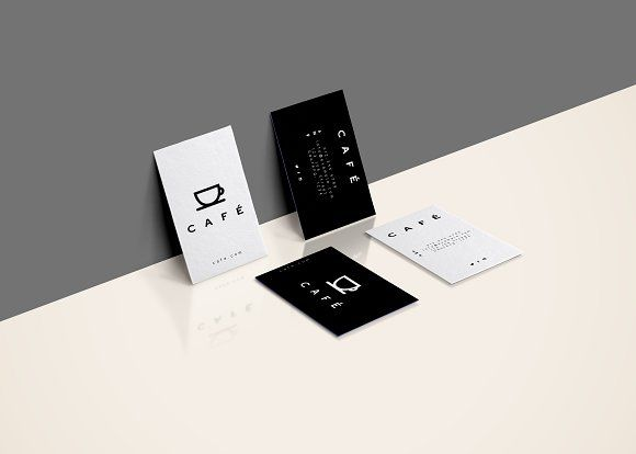 Minimal business cards cafe minimal business card business cards minimal business cards cafe templates 6 business cards for different individuals by editur plus colourmoves