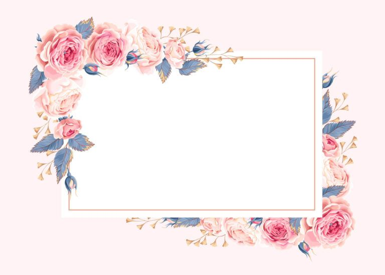 Climbing Roses Rsvp Card Template Free In 2020 With Regard To Small Greeting Free Place Card Template Free Printable Greeting Cards Printable Greeting Cards