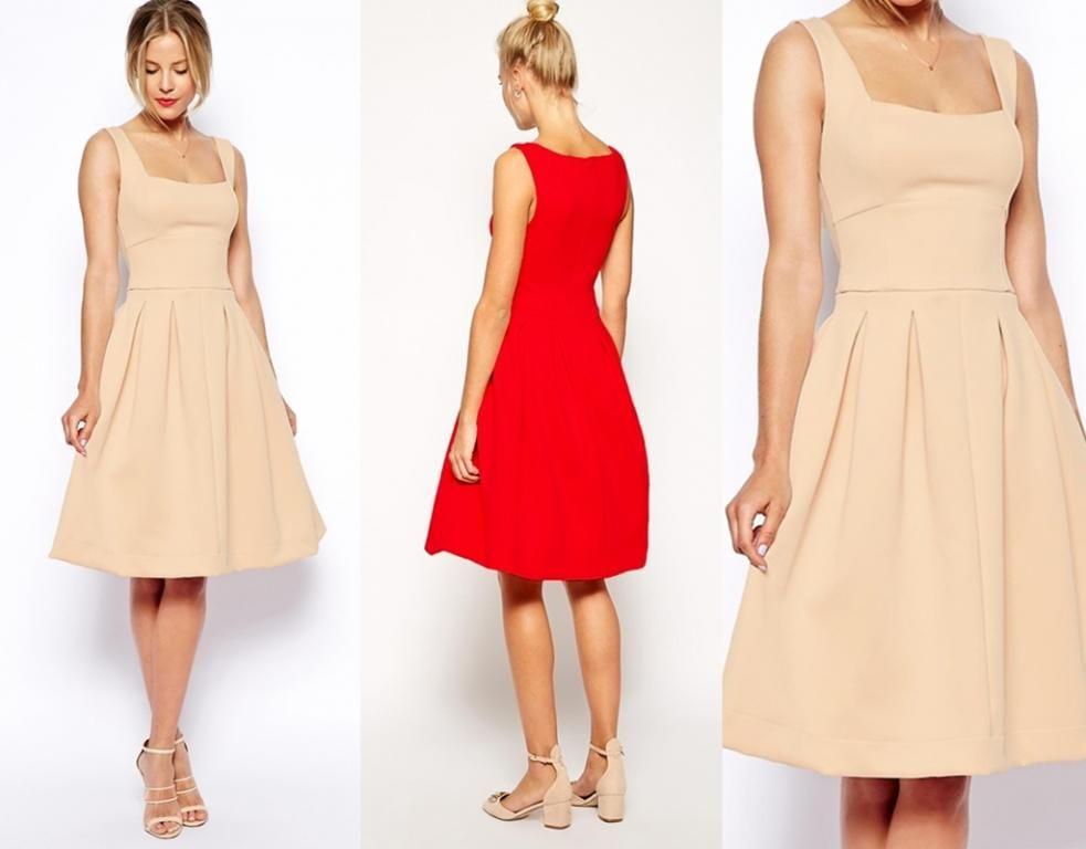W52460 Asos Sukienka Midi Rozkloszowana Pianka 38 5453643337 Oficjalne Archiwum Allegro Dresses Dresses For Work Fashion
