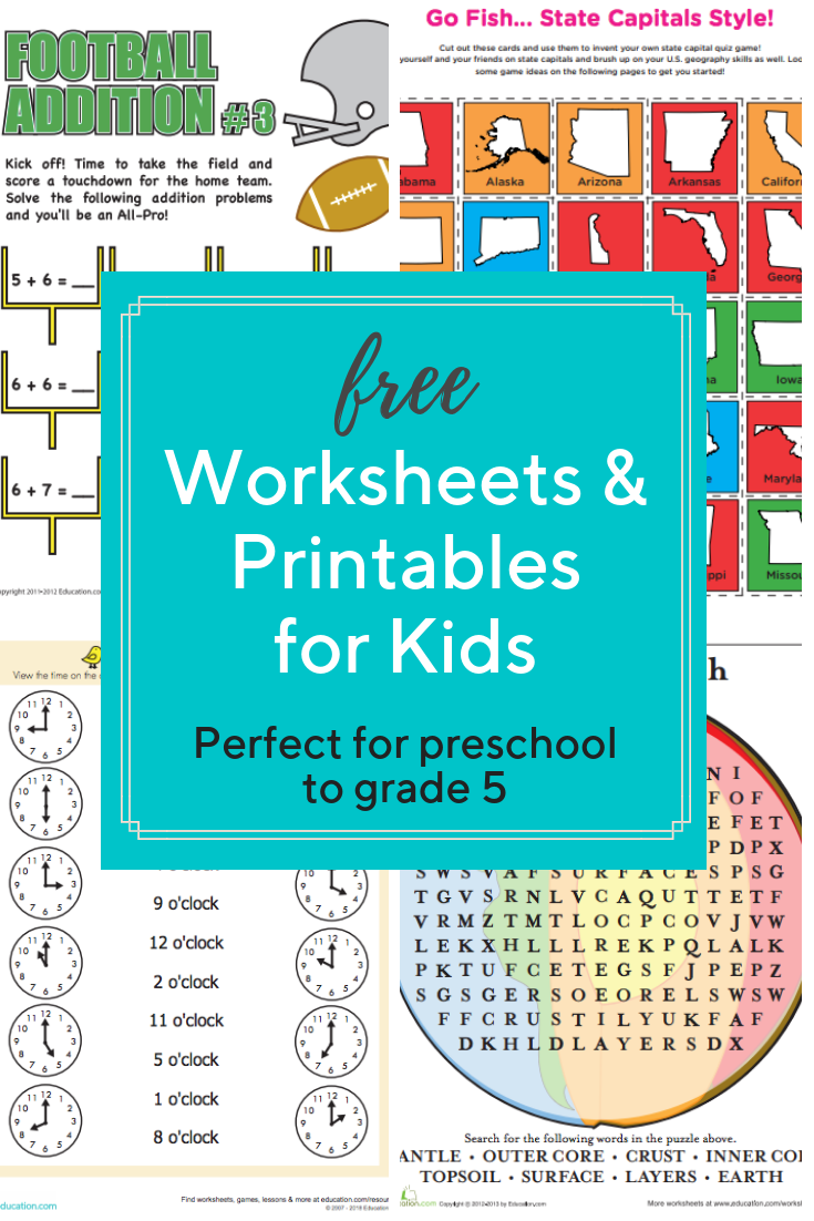 Find Over 20 000 Printable Worksheets Organized By Subject And Grade To Help Your Child Learn F Printables Free Kids Worksheets For Kids Preschool Activities [ 1102 x 735 Pixel ]