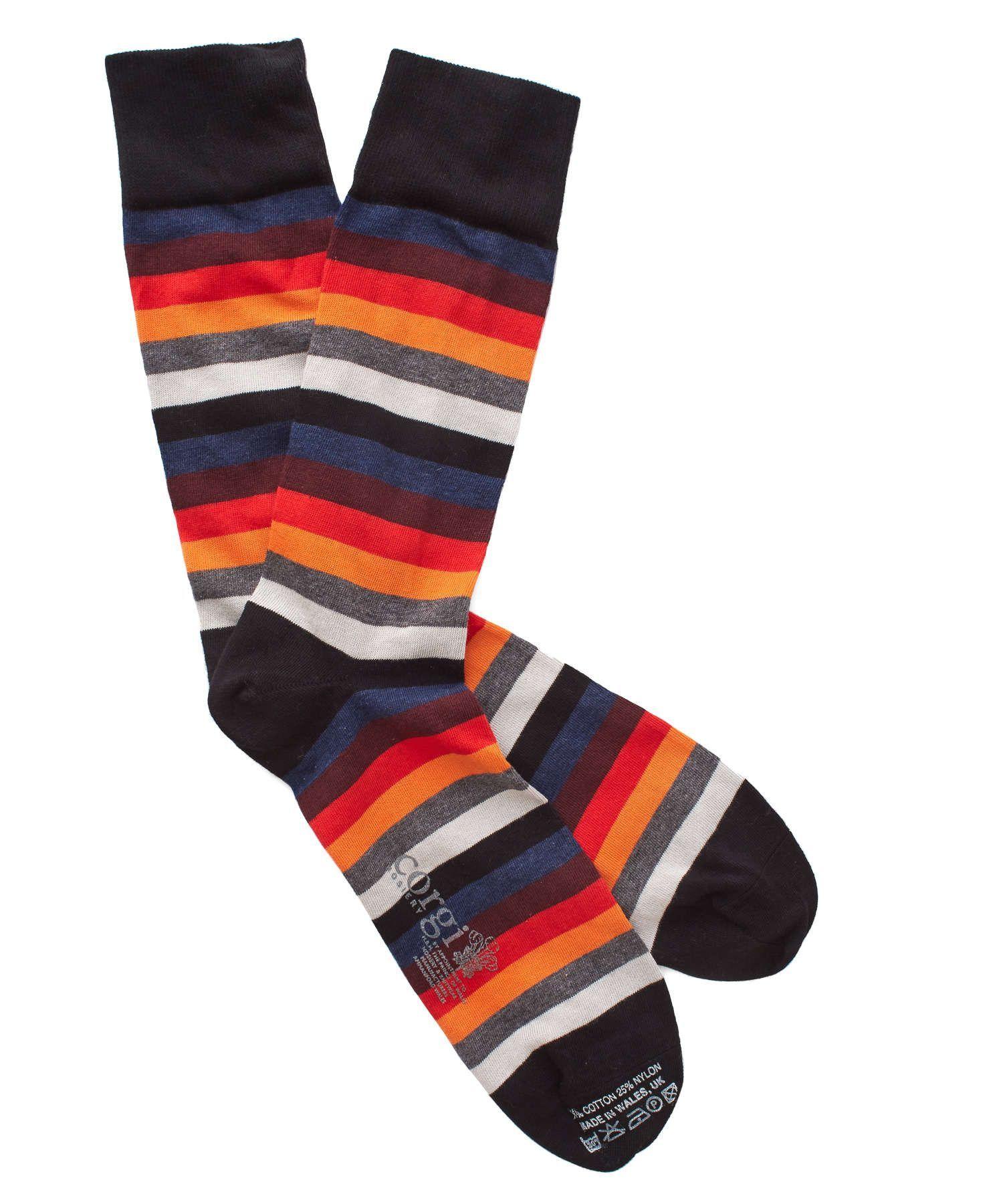 Multi Color Stripe Socks