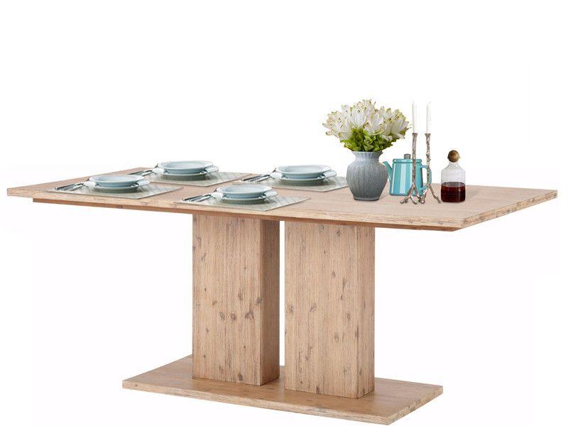 Tisch 200cm MAXXI aus Akazienholz in creme | moderner Esstisch ...