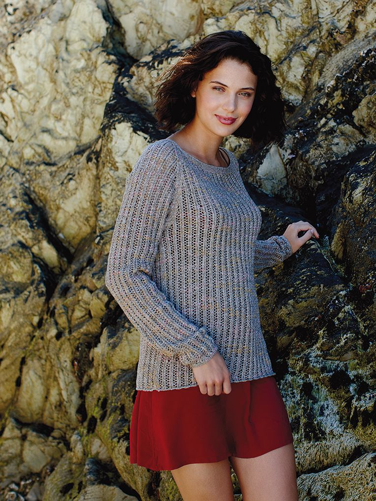 Rooibos - Knit this women\'s lace pattern sweater from the Tetra ...