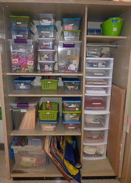 Teacher Closet After Teacher Storage Teacher Organization Classroom Storage