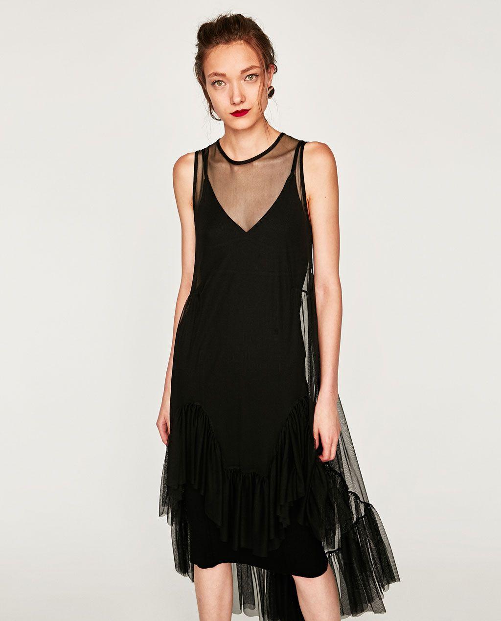 Image 11 of DRESS WITH TULLE FRILLS from Zara  Kleider, Modestil
