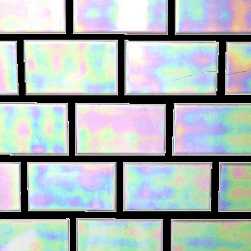 Aurora Borealis Brick Wall In 2019 Iridescent Tile