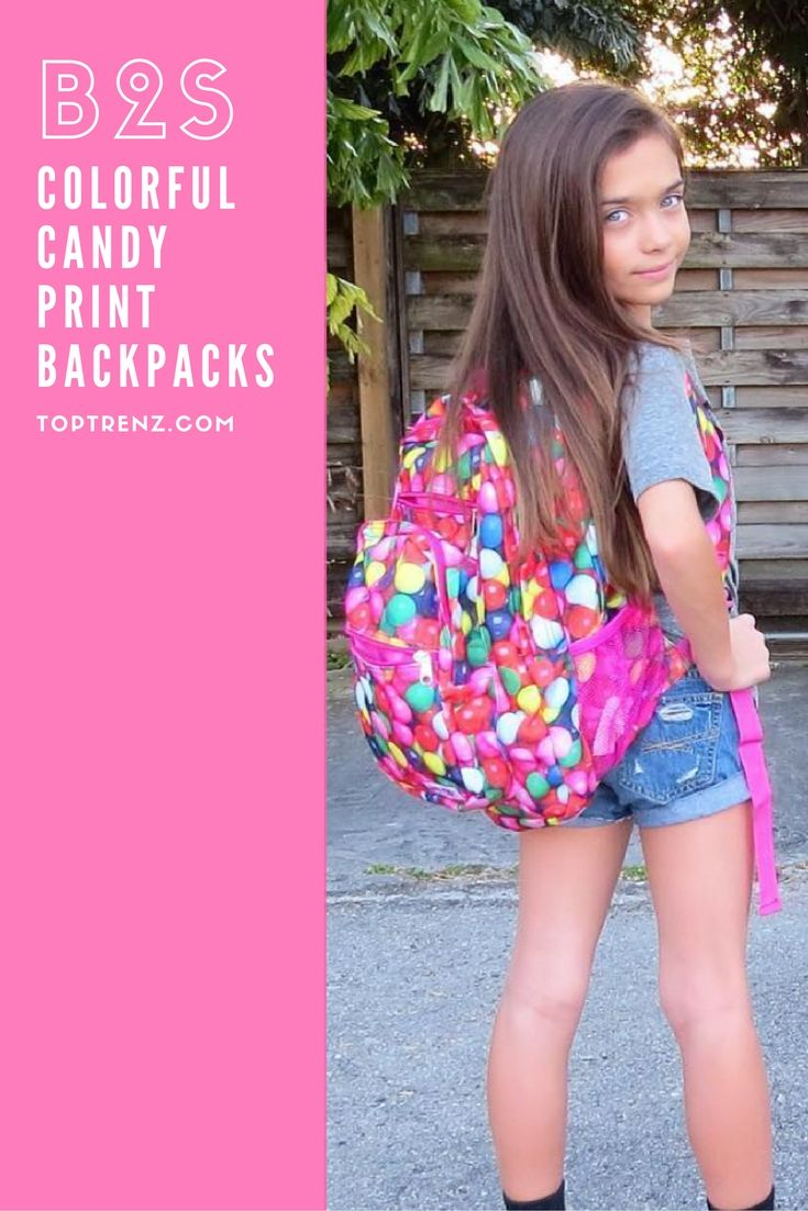 Sweet candy backpacks for back to school in a variety of