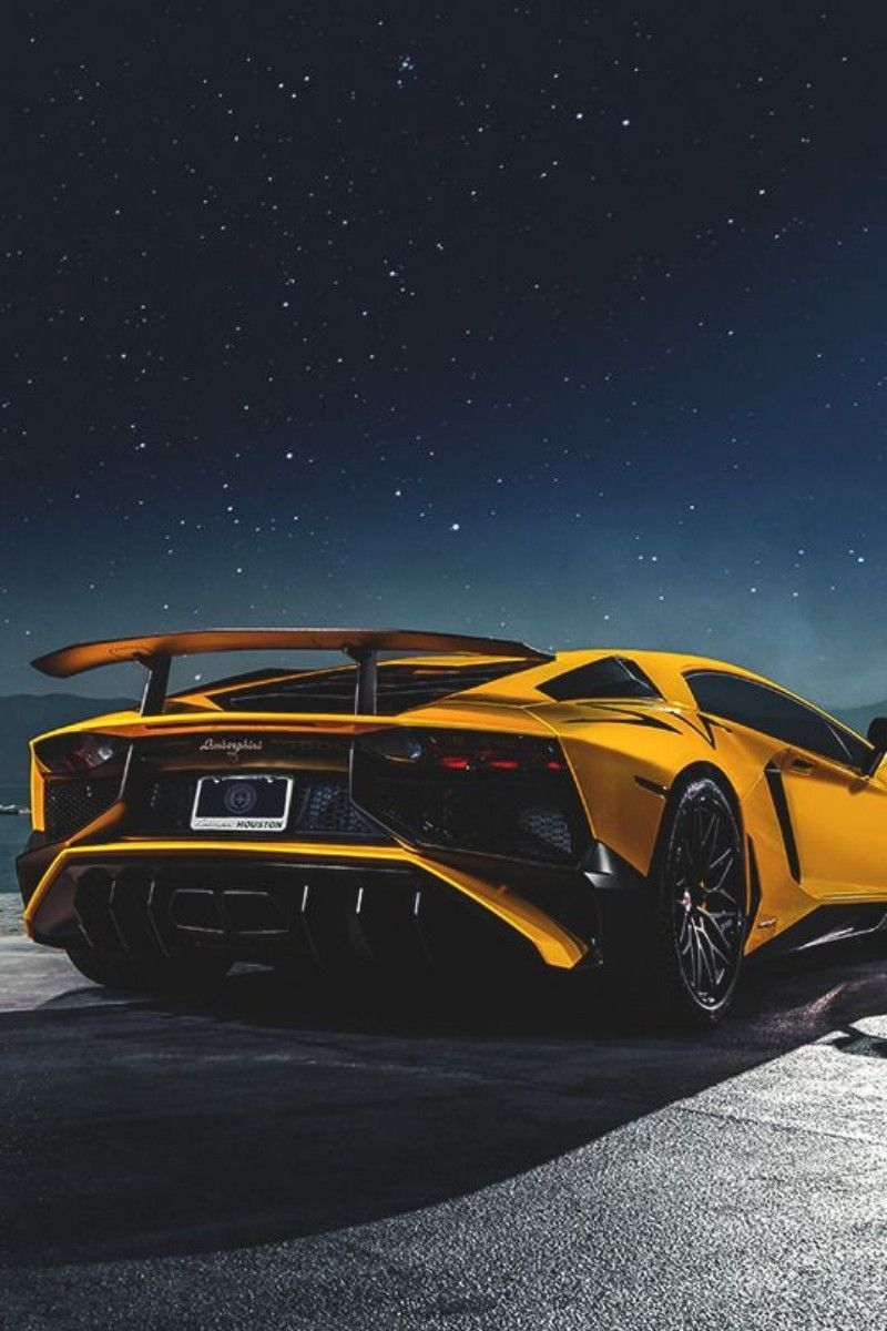 Lamborghini Aventador Superveloce Coupe Under Starry Night Luxury Sports Cars Coches Y Motocicletas Dream Cars