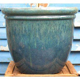 12-in H x 14.5-in W x 14.5-in D Assorted Glazed Tones Ceramic ...