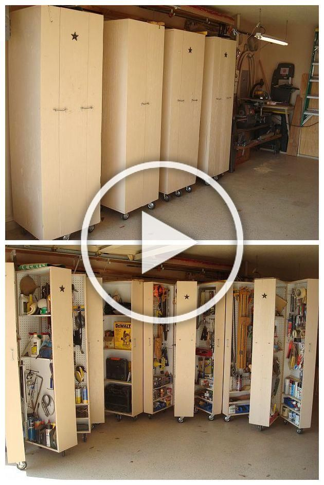 4 homemade rolling cabinets to organize all the tools in the garage A DIYers dream