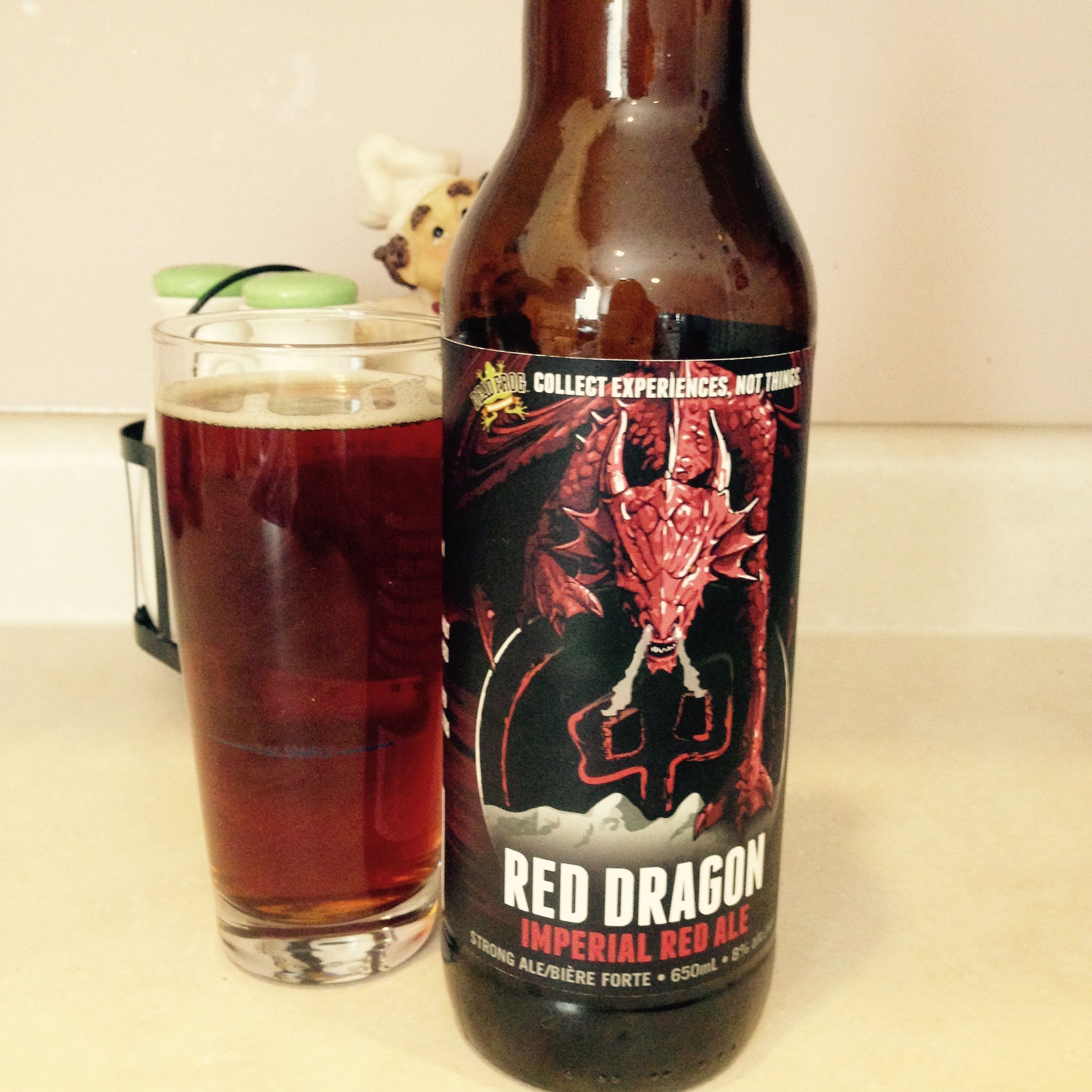 Red Dragon Red Imperial Ale By Dead Frog Has Strong Caramel Finish At 8 0 And 50 Ibu S This Packs A Punch And Is My Favourite Craft Beer Beer Design Malt Beer