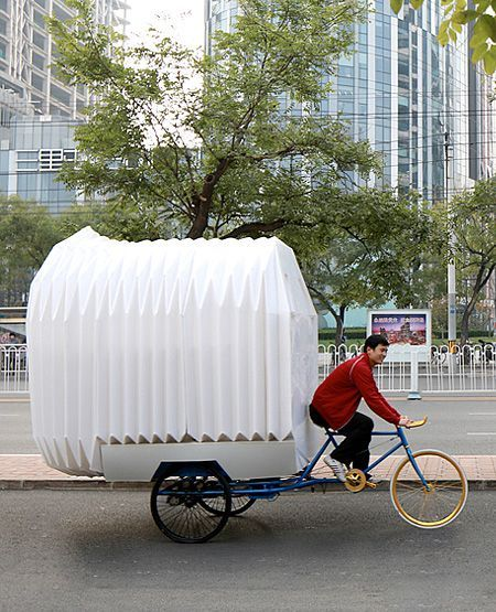 bicycle camper camping portable house tricycle bike mobile home rh in pinterest com
