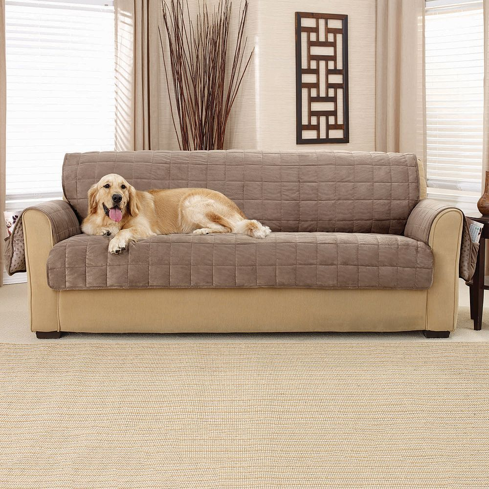 NEW Vintage  leather reversible pet furniture throw protector sure fit SOFA