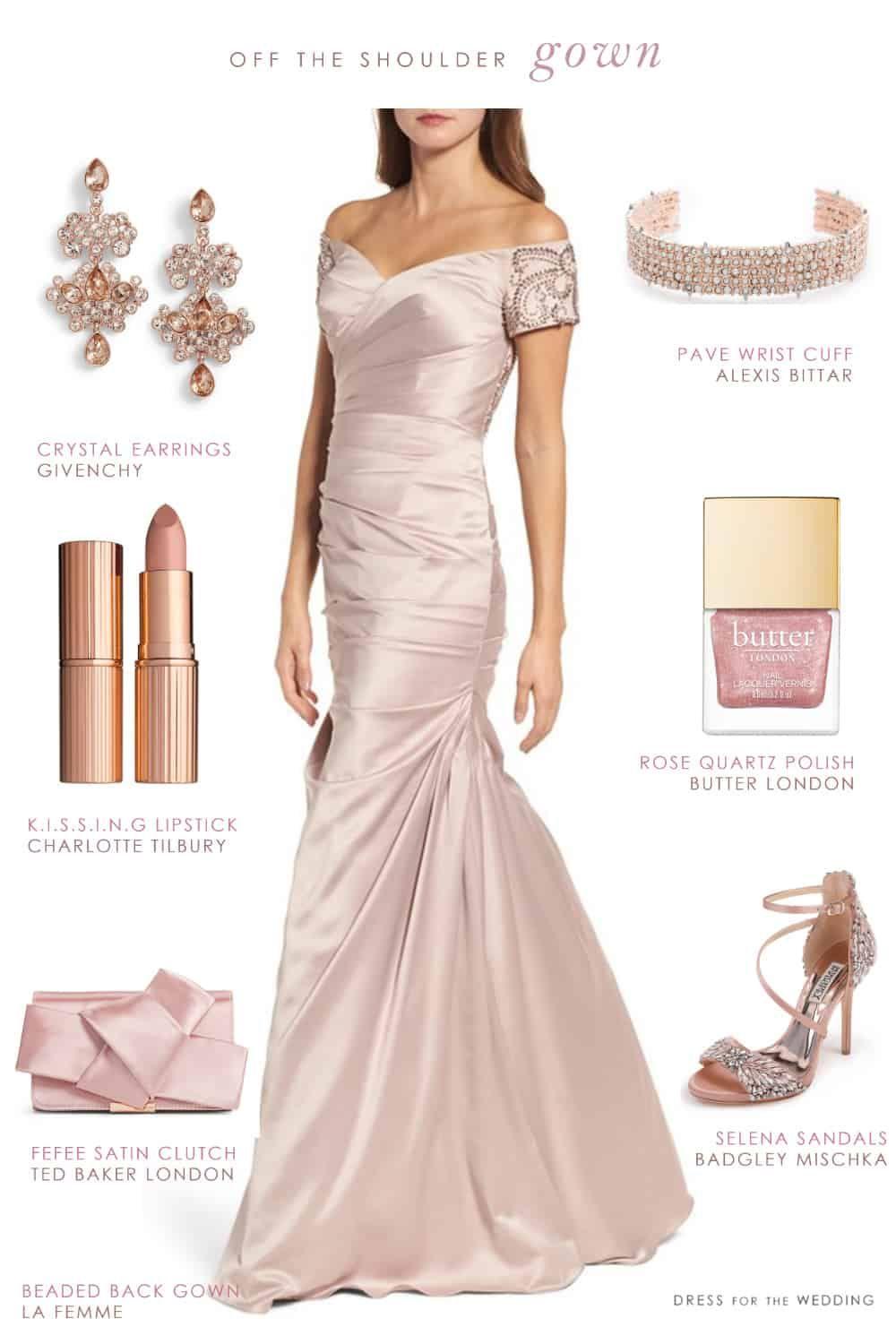 Offtheshoulder gown for a motherofthe bride gowns shoulder