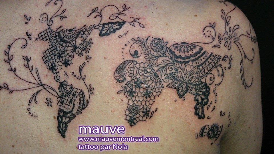 2305 mauve montreal tattoo tatouage lace world map globe1 tattoo 2305 mauve montreal tattoo tatouage lace world map globe1 gumiabroncs Choice Image