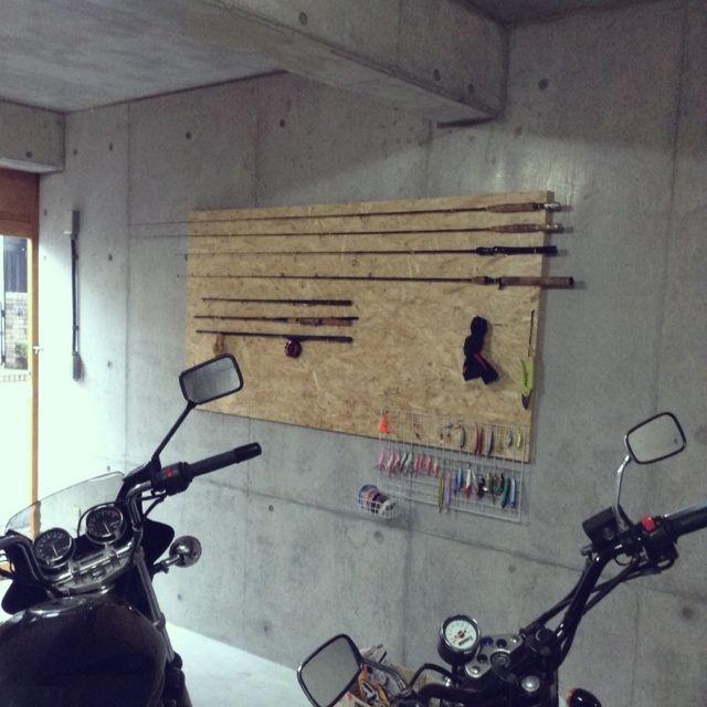 釣具のインテリア実例写真 趣味部屋 釣具 収納 インテリア