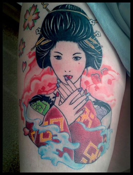 geisha japanese tattoo malin nocturnal creatures tattoo krak w tattoo pinterest japanese. Black Bedroom Furniture Sets. Home Design Ideas