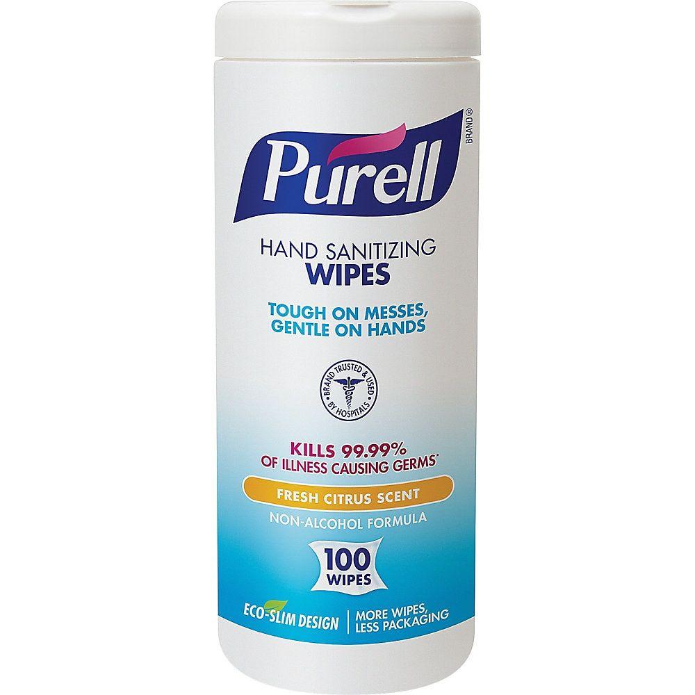 Purell Textured Sanitizing Wipes Fresh Citrus Tub Of 100 Wipes