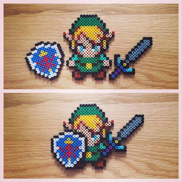Link Zelda Perler Beads By Marcusgavinbaker With Images Perler