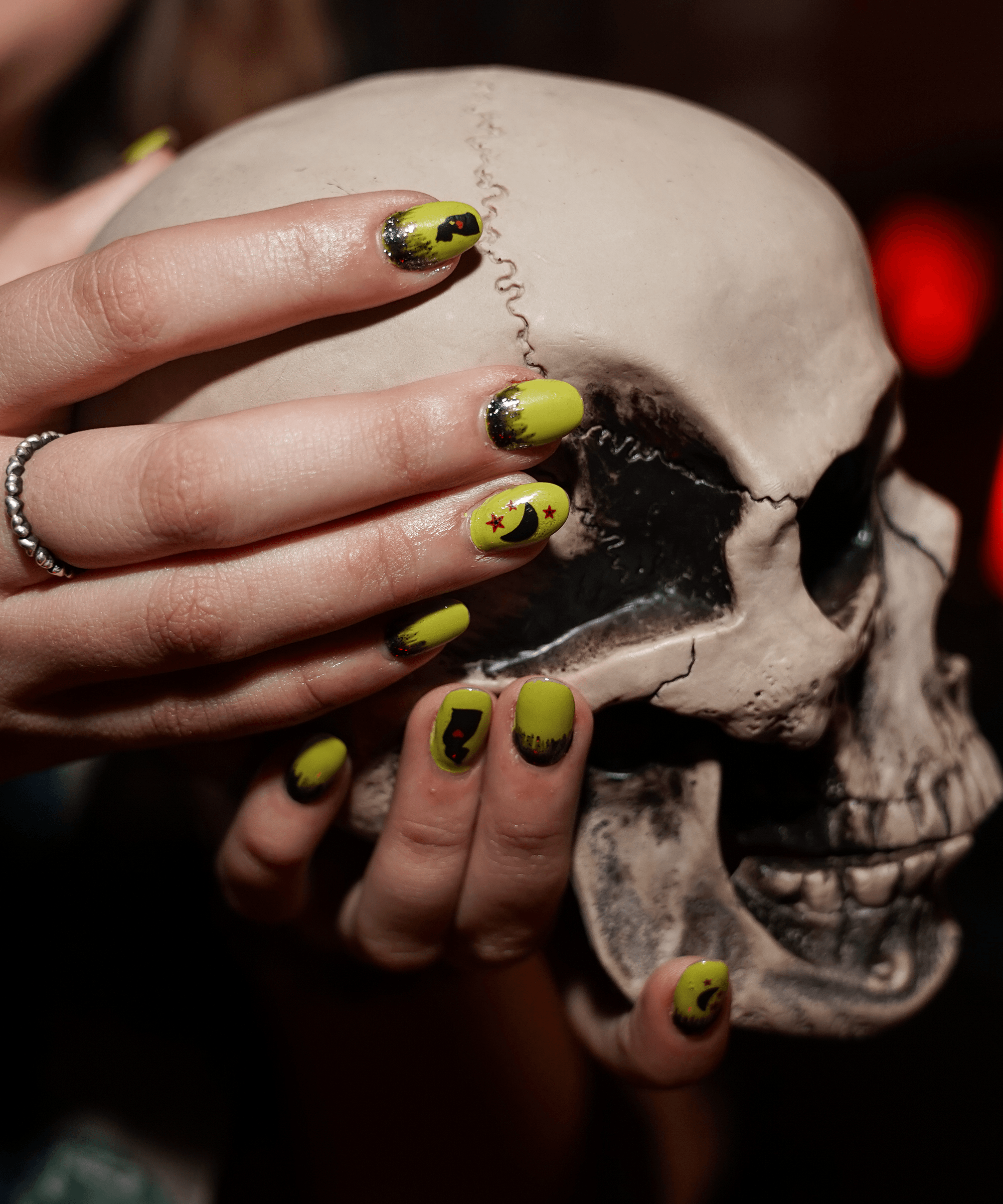 7 Spooky Nail Designs For Your Best Witching Season Yet Refinery29 Paid Witch Nails Nail Design Inspiration Halloween Nail Designs