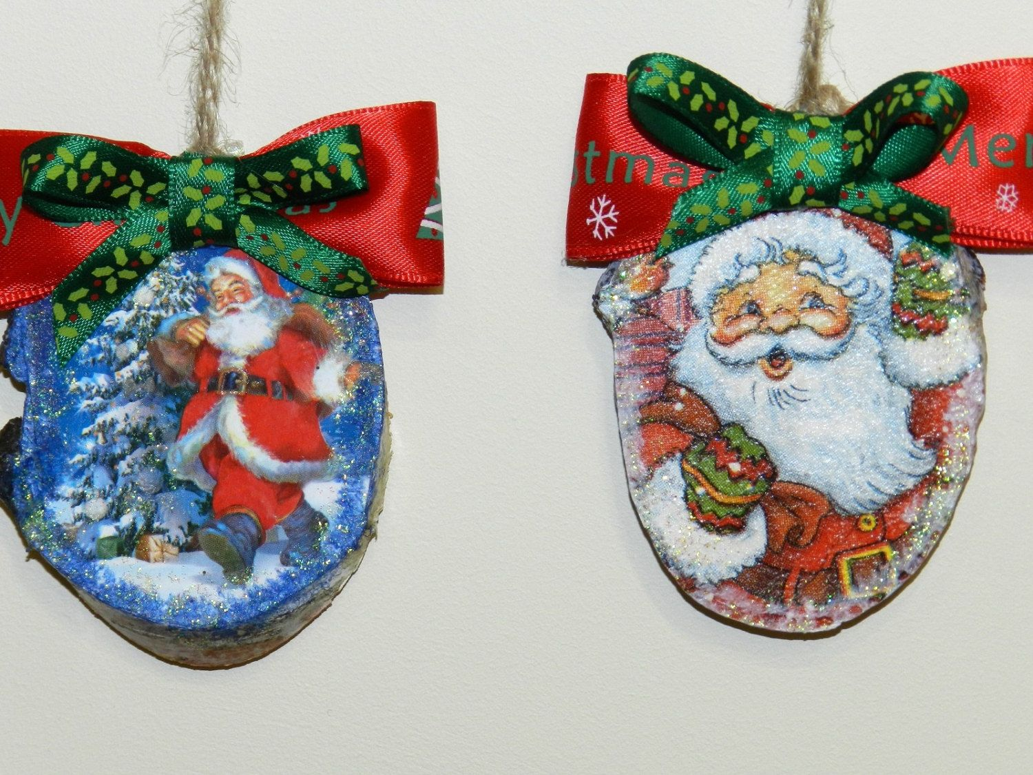 Rustic Tree ornaments, Christmas decors, Home decors