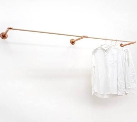 Wall Mounted Clothing Rail Google Search