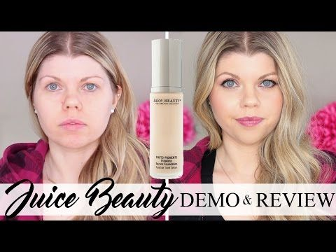 NEW Juice Beauty Phyto-Pigments Flawless Serum Foundation // Review & Demo // Natural Beautiful Life - YouTube