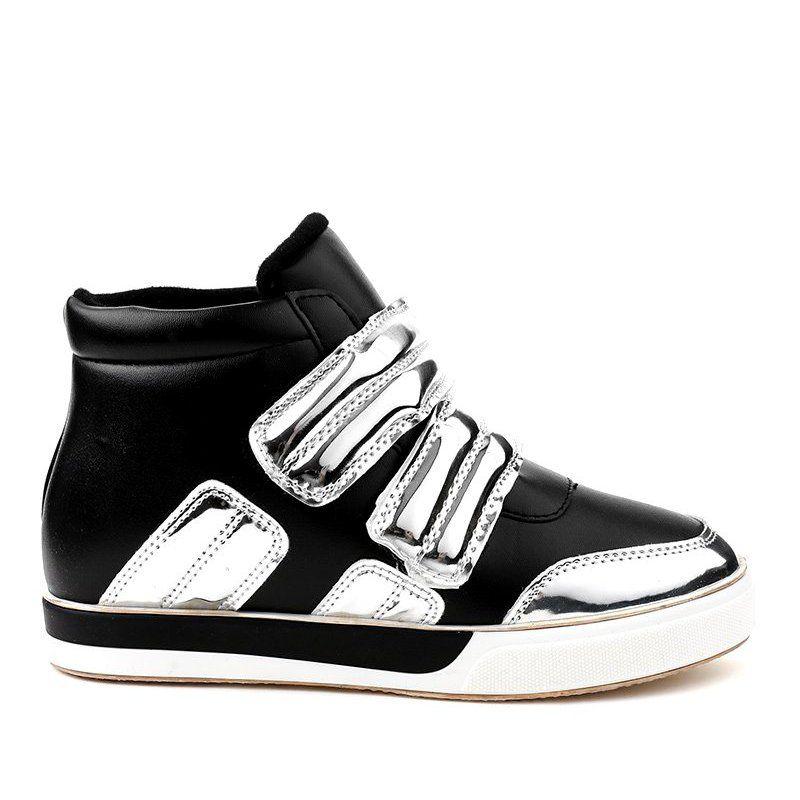 Czarne Ocieplane Trampki Na Koturnie Gf Zm26 Sneakers Womens Sneakers Trainers Women