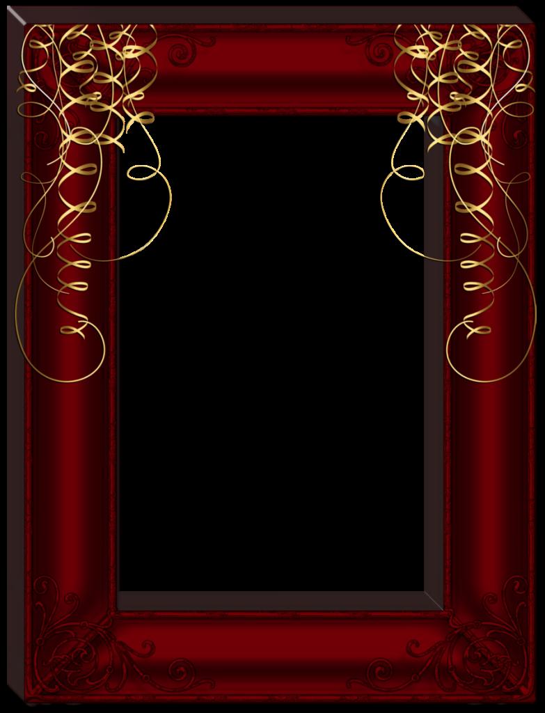 Transparent Dark Red Frame Red Frame Colorful Frames Frame