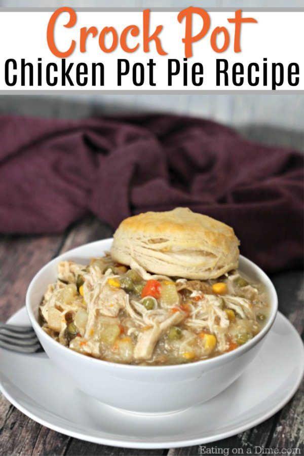Crockpot Chicken Pot Pie #chickendumplingscrockpot