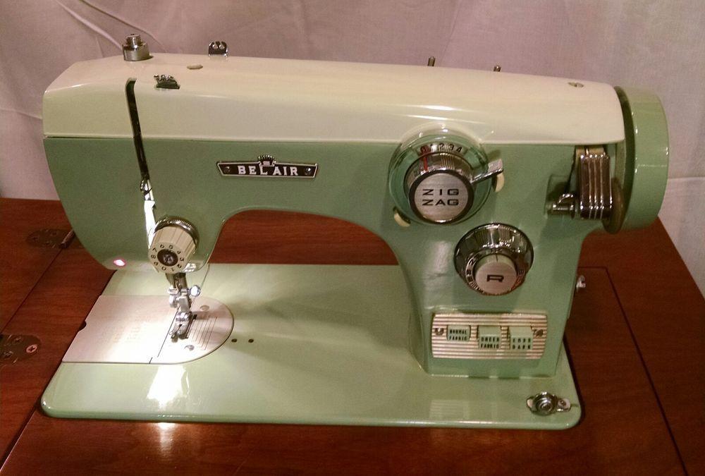 Rare Vintage Mid Century Belair Sewing Machine 40 With Beautiful Delectable Belair Sewing Machine